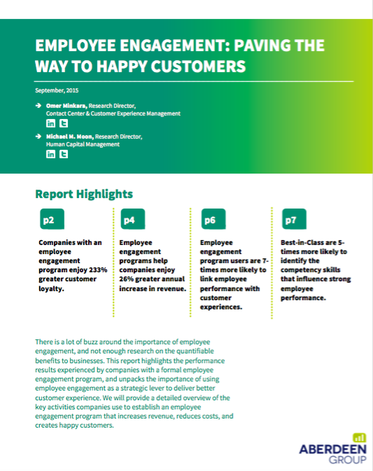 Employee Engagement: Paving the Way to Happy Customers